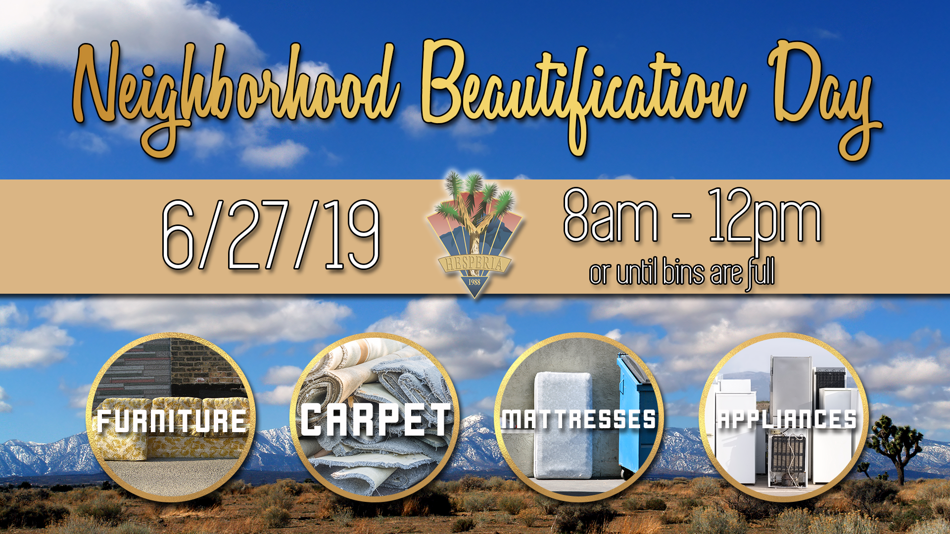 June 2019 Neighborhood Beautification Day