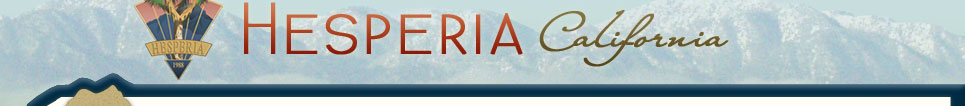 City of Hesperia, CA - Home Page